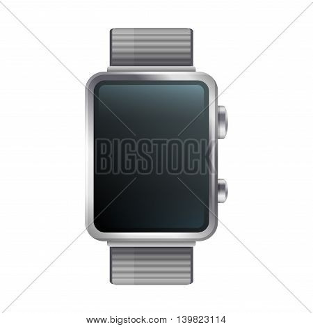 Blank Display Smart Watch Icon. Vector illustration