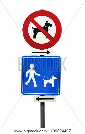 No Dogs And Dogs On Leash Only