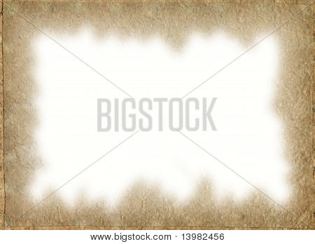 Vintage Paper Frame With Space For Image Or Text