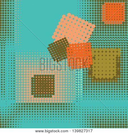Abstract seamless pattern. Seamless pattern with dots. Vector pattern. Dots pattern. Vector illustration.