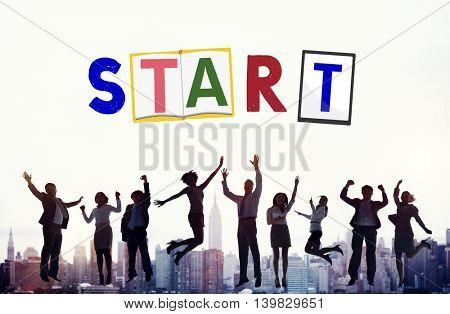 Start Begin Open Motivation Ready Concept
