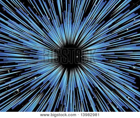 Thru the universe vector background for design use