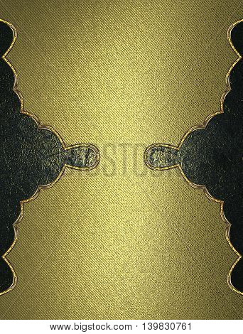 Gold Texture With Dark Patterned Background For Text. Template For Design. Copy Space For Ad Brochur
