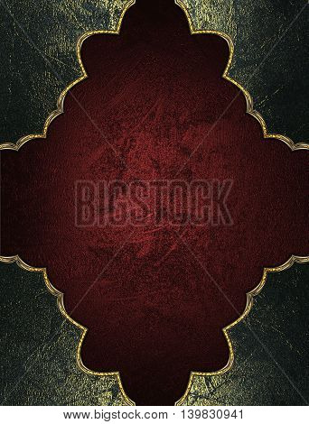 Red Texture With Grunge Frame. Template For Design. Copy Space For Ad Brochure Or Announcement Invit