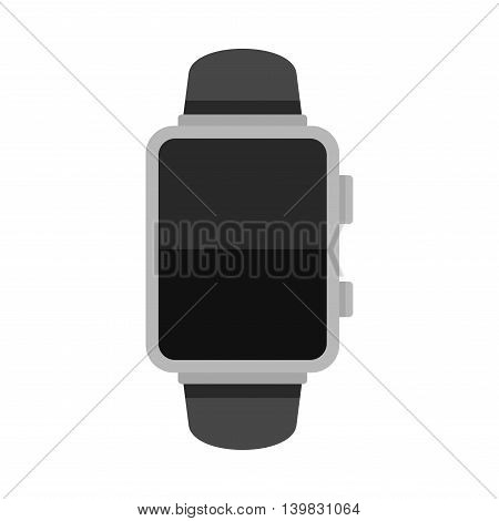 Blank Smart Watch Isolated on White Background. Vector illustration