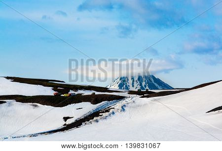 View On Viluchinskiy Volcano, Kamchatka, Russia