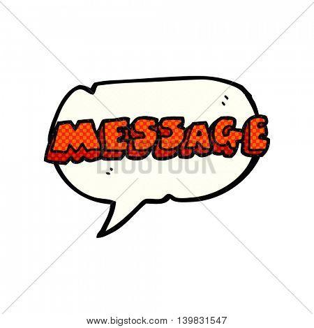 freehand drawn comic book speech bubble cartoon message text