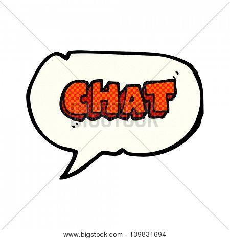 freehand drawn comic book speech bubble cartoon chat symbol