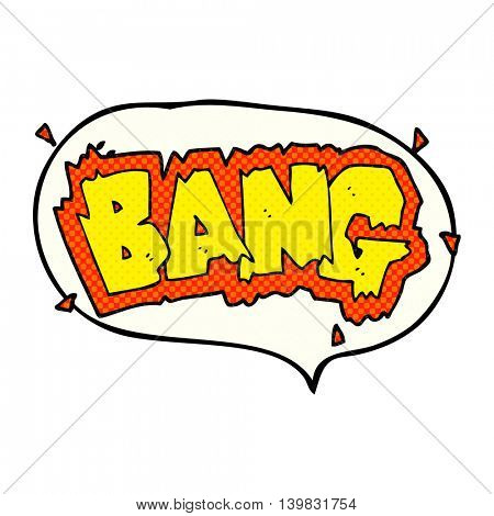 freehand drawn comic book speech bubble cartoon explosion