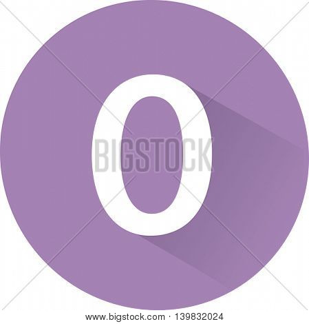 Number 0 on white background. Vector illustration