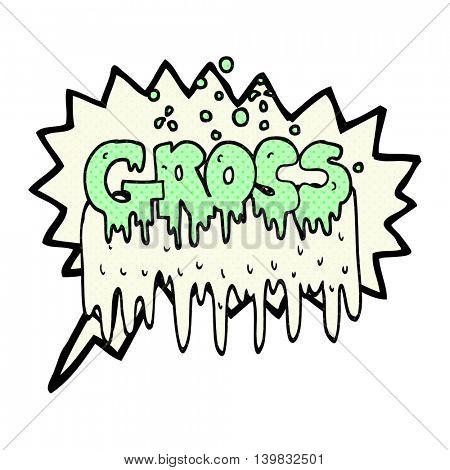 freehand drawn comic book speech bubble cartoon gross symbol