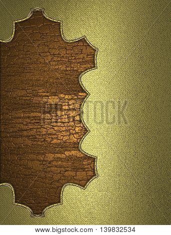 Yellow Background Cut Wood For Decoration. Template For Design. Copy Space For Ad Brochure Or Announ