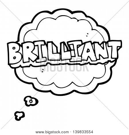 brilliant freehand drawn thought bubble cartoon word