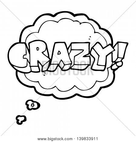freehand drawn thought bubble cartoon shout crazy