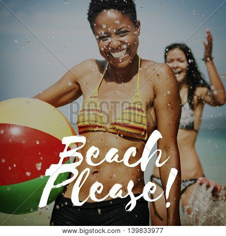 Beach Please Vacation Relaxation Sea Concept