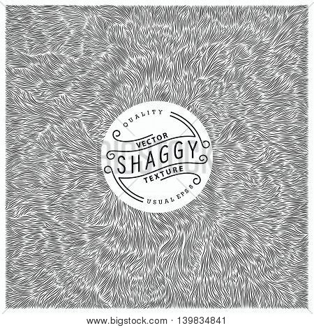 Shaggy texture. Simple and quality monochrome pattern. Unique vector illustration. Ready for print web and other design