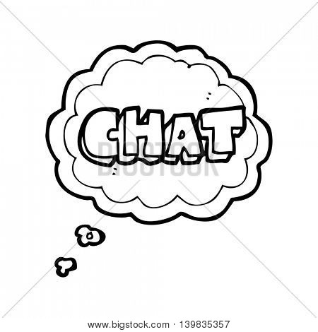freehand drawn thought bubble cartoon chat symbol