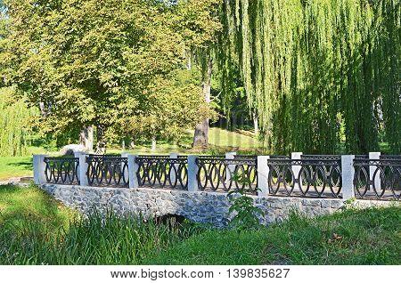 Old park bridge Alexandria Belaya Tserkov Ukraine