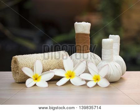 Spa scrub treatment and massage, Thailand, soft focus
