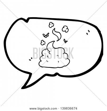 freehand drawn speech bubble cartoon gross poop