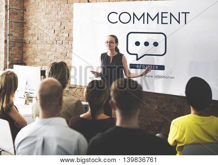 Comment Online Conversation Message Concept