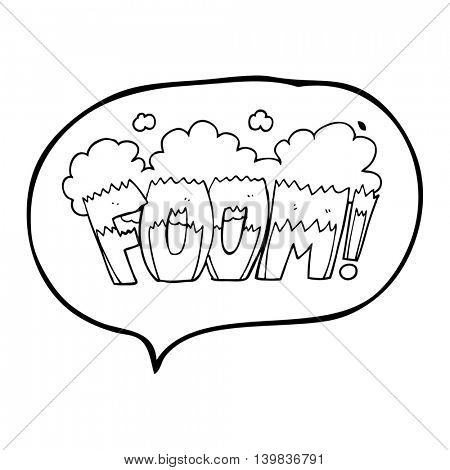 freehand drawn speech bubble cartoon comic book explosion