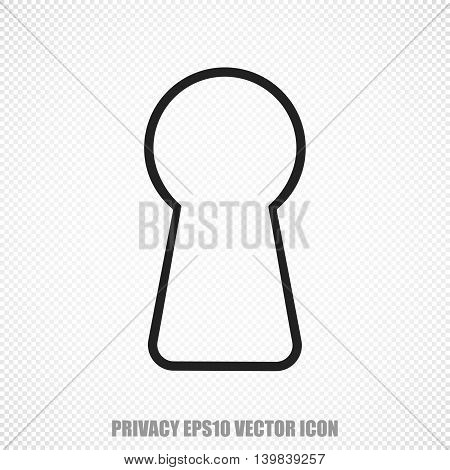 The universal vector icon on the security theme: Black Keyhole. Modern flat design. For mobile and web design. EPS 10.