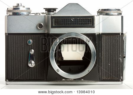 Old Camera With Removed Lens