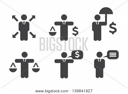 Business Policies Icons set vector illustration eps 10