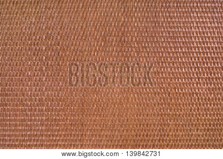 Texture material background of rattan dark brown horizontal