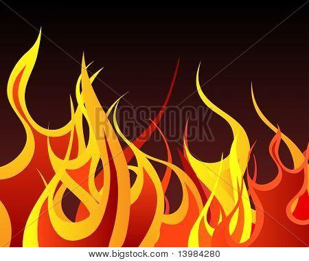Inferno Feuer Vector Hintergrund für die Design-Verwendung