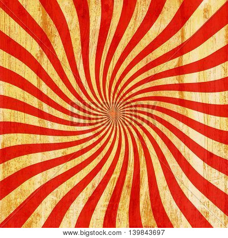 Grunge Red And Orange Vintage Sunburst Swirl, Twirl Background Texture
