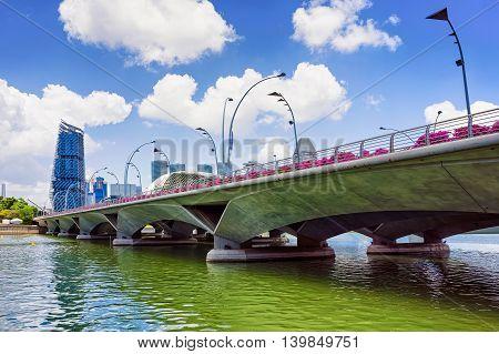Jubilee Bridge At The Marina Bay In Singapore