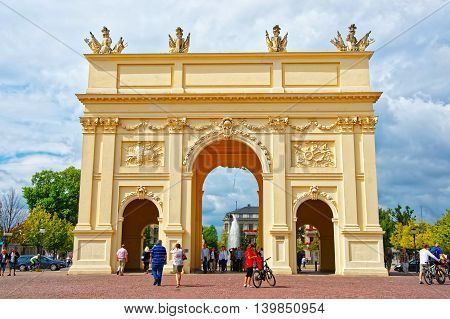 Brandenburg Gate In Luisenplatz In Potsdam In Germany