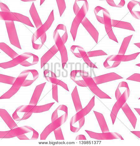 Breast Cancer Awareness Pink Ribbon Pattern