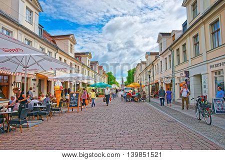 Old City Center On Brandenburger Strasse In Potsdam
