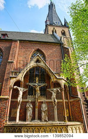 St Lambertus Basilica In The Old City Center Of Dusseldorf