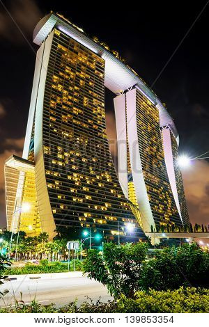 Marina Bay Sands Hotel And Casino Of Downtown Core