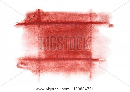 Dark red watercolor frame - abstract  background or space for your own text