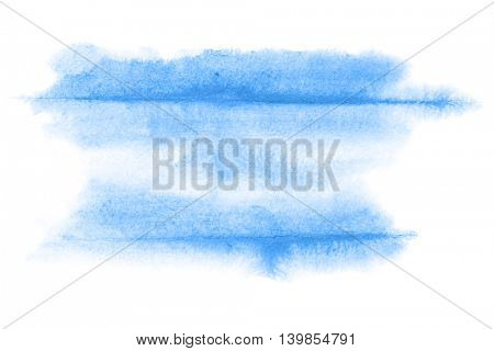 Blue abstract watercolor background with lines