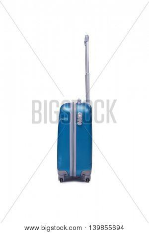 Suitcase isolated on the white background