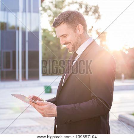 Attractive Man Making Career