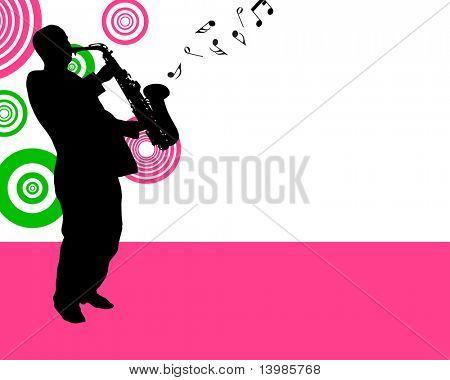Jazz saxophonist theme. Vector illustration for design use.