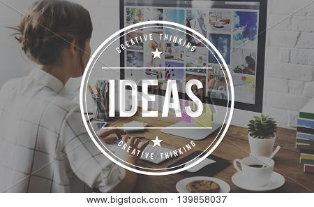 Ideas Creativity Design Thoughts Vision Strategy Concept