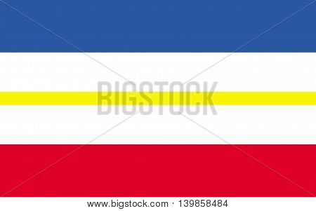 Flag of Mecklenburg-Western Pomerania is a federated state in northern Germany