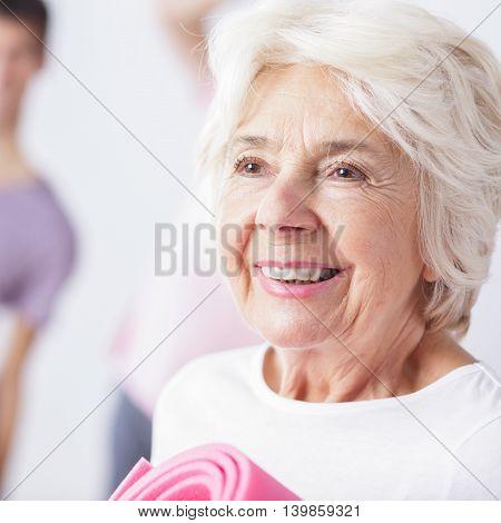 Mature Sporty Female At Studio