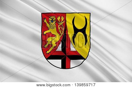 Flag of Altenkirchen is a district in Rhineland-Palatinate Germany. 3d illustration