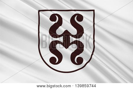Flag of Bad Durkheim is a spa town of the Bad Durkheim district in Rhineland-Palatinate Germany. 3d illustration