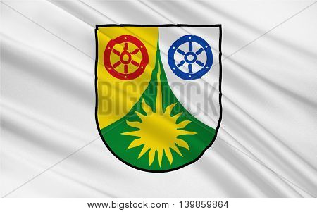 Flag of Donnersbergkreis is a district (Kreis) in the middle of Rhineland-Palatinate Germany. 3d illustration