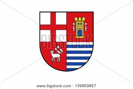 Flag of Eifelkreis Bitburg-Prum is a district in Rhineland-Palatinate Germany